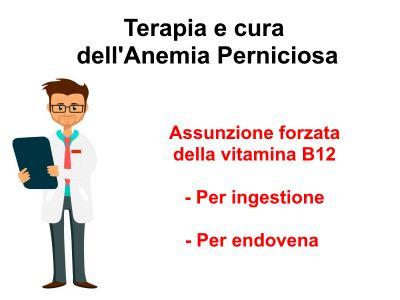 La terapia e la cura per l'anemia perniciosa